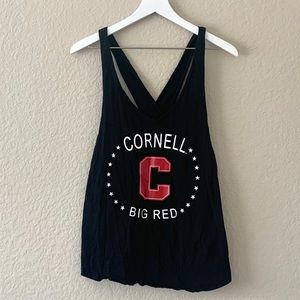 Cornell University Big Red Black Tank Top, L